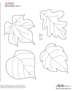 Fall Craft -Printable leaves. Draw a tree trunk on paper. Have your kids color in the leaves, then glue them onto the paper.