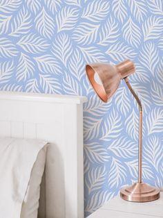 #peelandstick #wallpaper #adhesivedecor #adhesiveproducts #temporaryhomeupgrades #temporaryupgrades #rentershacks #rentersideas #homedecorideas #diyprojects #removablewallpaper Leaves Wallpaper, Home Safes, Weaving Textiles, Home Upgrades, Pattern Wallpaper, Blue And White, Diy Projects, Fancy, Prints