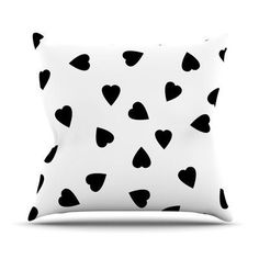 KESS InHouse Hearts by Suzanne Carter Throw Pillow