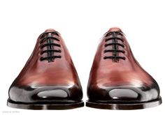Burnished Toecaps - Koronya - Bespoke shoes.  This is pure art.  I may print this and put it up in my office.