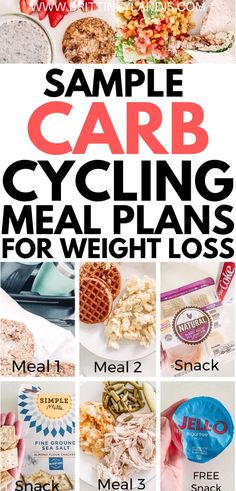 A sample carb cycling meal plan for weight loss! How to lose weight with carb cycling. Recipes and food ideas included. Carb cycling for women. The perfect guide for beginners. Weight Loss Meals, Diet Plans To Lose Weight Fast, Healthy Weight Loss, Losing Weight, Best Diet Plan, Healthy Diet Plans, Healthy Foods, Healthy Chicken, Chicken Recipes