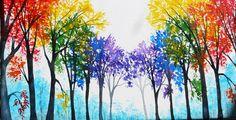 RAINBOW TREE CROSS STITCH KIT | eBay