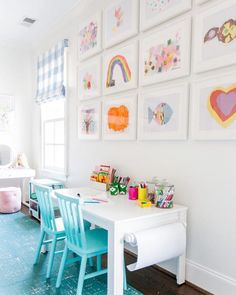Life is a game... PLAY IT!! Beyond thrilled to finally reveal Caroline and Carson's cute + cheerful playroom on the blog today... most of all, I want them to remember to play and this is the epitome of everything I dreamed of for our two little princesses—and packed full of my most treasured masterpieces, their gorgeous art!! As always, big love to @kendallksimmons for her incredible creative vision and talent and @catherinetrumanphoto for her genius in photography... one special space in our