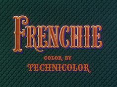 Opening credits from the film 'Frenchie' (1950), directed by Louis King, starring Joel McCrea, Shelley Winters and Elsa Lanchester    Universal Pictures Westerns ➽ http://annyas.com/screenshots/universal-pictures/westerns/