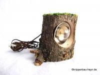 """Baumstammstrahler 3,5 Volt auch als """"Tarnleuchte"""" zu verwenden.    Kabellänge ca. 55 cm    Höhe ca. H 4,5 cm"""