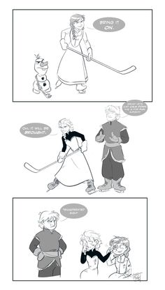 HOCKEY TIME!!!!!!!! This is the best frozen comic ever