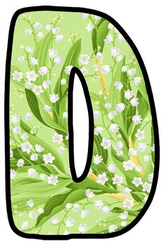 Alphabet, Bubble Letters, Sailor Mars, Lily Of The Valley, Bubbles, Monogram, Board, Garden, Flowers