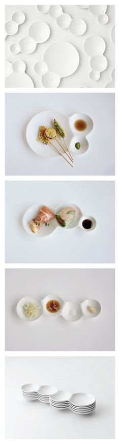 Savone Divided Plates by Japanese company Metaphys