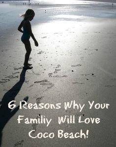 6 reasons why your family will Love Coco Beach! South Beach Florida, Cocoa Beach Florida, Florida Vacation, Florida Travel, Florida Beaches, Beach Camping, Beach Trip, Disney Cruise, Disney Trips