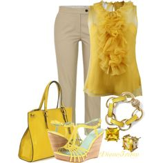 Mellow Yellow, created by diane-ireton on Polyvore