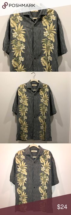 5c896ba9e Tommy Bahama Floral Shirt This is a Large Tall Tommy Bahama floral pattern  shirt. Size: Large Tall Tommy Bahama Shirts Casual Button Down Shirts