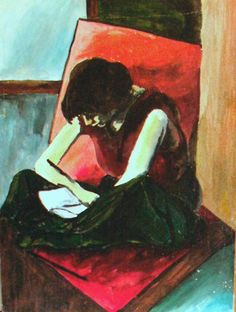 Woman Reading Painting  - Woman Reading Fine Art Print