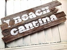 SALE-Reclaimed Beach Wood Drinking Bar Sign-Beach Cantina-Beach Sign-Boat Sign-Wood Sign-Driftwood Sign on Etsy, $23.00