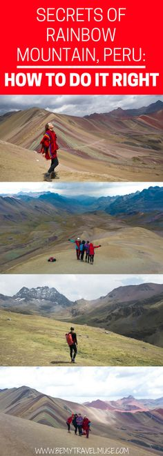 The best guide to Rainbow Mountain, Peru: how to do it right? what it really looks like? Can you handle the altitude? Will the weather be an issue? All of your questions for your next South America adventure answered in this article | Be My Travel Muse | #SouthAmerica #Peru