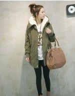 New Lady/Women Warm Winter Zip Up Hooded Long Jacket Hoodie Trench Coat Parka Overcoat Outwear HYG-5028