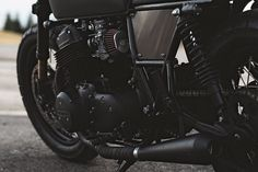 Blacker Than Black: custom 1978 Honda CB750 by Clockwork Motorcycles