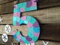 Mermaid Inspired Party Paper Sign Mermaid by BlueOakCreations