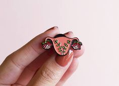 Uterus Enamel Pin Feminist Art- Blooming Uterus Feminist Gift Cuterus Women' Rights Reproductive Rights Girl Power Art Baby Shower – girl power tattoo Mothers Day Presents, Mother Gifts, Girl Power Tattoo, Piercings, Reproductive Rights, Feminist Art, Feminist Apparel, Hard Enamel Pin, Pin And Patches