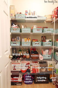 Best Kitchen and Pantry Organization Ideas You Will Love. Best Kitchen and Pantry Organization Ideas. Unlike the kitchen, the pantry is a special room that functions as a place to store cooking utensils, food. Kitchen Organization Pantry, Pantry Storage, Kitchen Pantry, Closet Organization, Organized Pantry, Pantry Ideas, Pantry Baskets, Diy Storage, Pantry Makeover