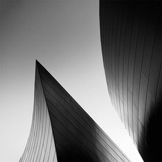 Architecture abstraite et photographies en noir et blanc