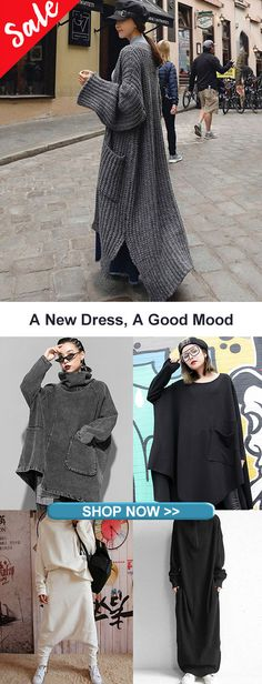 Cool & Pretty Stylish-End of Year Sales - sassy,cool,lazy,cozy/comfortable stylings,clothes - damenmode Cooler Style, Winter Stil, Long Sweaters, Fashion Dresses, Fashion Pants, Paisley, New Dress, Boho Chic, Fall Outfits