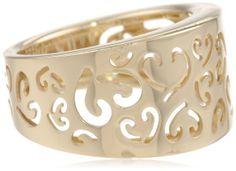 14k Yellow Gold Fancy Heart Ladies Ring, Size 7