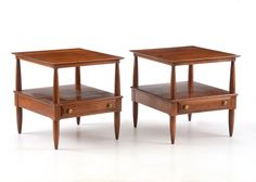 Pair Of Willett Cherry Side Tables