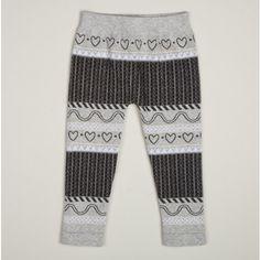 Girls Heart Print Leggings