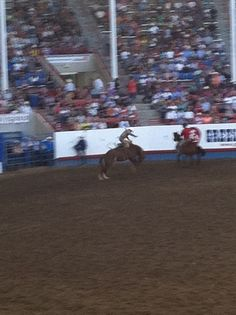This was the only bunking bronco shot I got. The rest of them the horse moved to fast for my camera. : )  Greeley Stampede