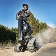 DTV Shredder - Next generation all-terrain vehicle is a snarling cross between a skateboard, a motocross bike and a panzer tank!