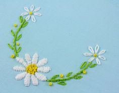 daisy hand embroidery pattern packet daisy embroidery by bigBgsd, $3.00