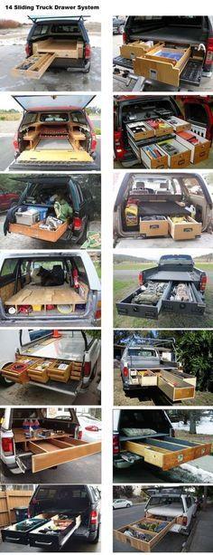 14 Sliding Truck Drawer System