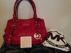 Michael Kors Bedford East West Satchel Shoulder Bag $196
