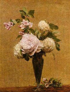 Vase of Peonies and Snowballs - Henri Fantin-Latour