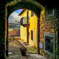 Ancient Portal, Tuscany, Italy photo by marcello