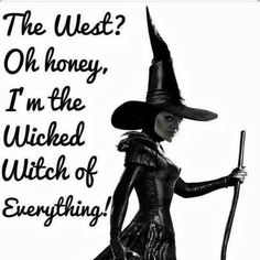 Hey, it's me! The wicked witch of everything.
