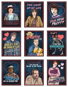M.Lineham Art — Stranger Things Valentine's Day Card Pack (2017)