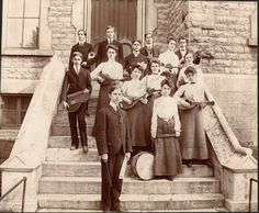 Photographer J.W. Dietz took this picture of the 1903 Sandusky High School orchestra on the steps of the old Sandusky High School..