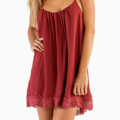 Tobi Nidia Cami Shift Dress in Red Babydoll cut loose shift dress. Super comfy and easy. Only worn twice! Tobi Dresses Mini