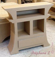 Le meuble en carton de Stéphane