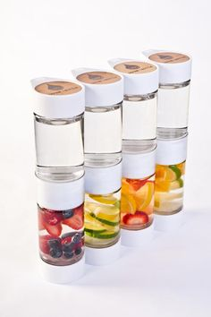 Fruit-infused #water to go from Define Bottle lets you take fruity water (like you'd have at the #spa) and take it everywhere. Yum!