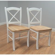 Target Mobile Site - Tiffany Dining Chair Set of 2 - Natural/ White