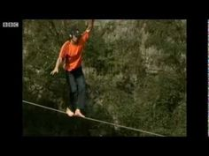 Dean Potter crosses China's Enshi Grand Canyon without safety, without a parachute! 132 meter slackline!  There are different videos of this but I like being able to hear his breathing.