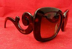 Prada Sunglasses SPR270 Tortoise Square Pre-Owned SPR 270 2AU-6S1 #PRADA #Square
