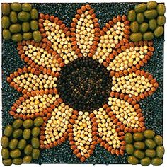 Clearing Place: Sowing the seeds of Minnesota folk art Nature Crafts, Fall Crafts, Crafts For Kids, Arts And Crafts, Mosaic Crafts, Mosaic Art, Land Art, Mosaics For Kids, Seed Craft