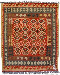 117x100 cm orient Teppich Afghan Turkmen Nomaden Planzenfarbe kelim kilim No:5