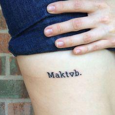 Significado da tatuagem Maktub · Tattoo Blog