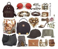 """""""Steampunk"""" by ninamaybaby ❤ liked on Polyvore featuring Jimmy Choo, ZeroUV, Auden, Charlotte Olympia, Blowfish, Dsquared2, Diesel, MCM, Mudd and Prada"""