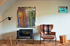 Inside Martino Gamper's Home - Interactive Feature - NYT Magazine -  I love that Albini chair