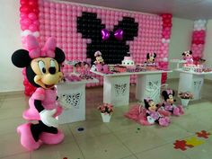 Minnie mouse#decorationwithballoon#cute#birthdaydecoration